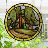 ポプラのある風景 ステンドグラス