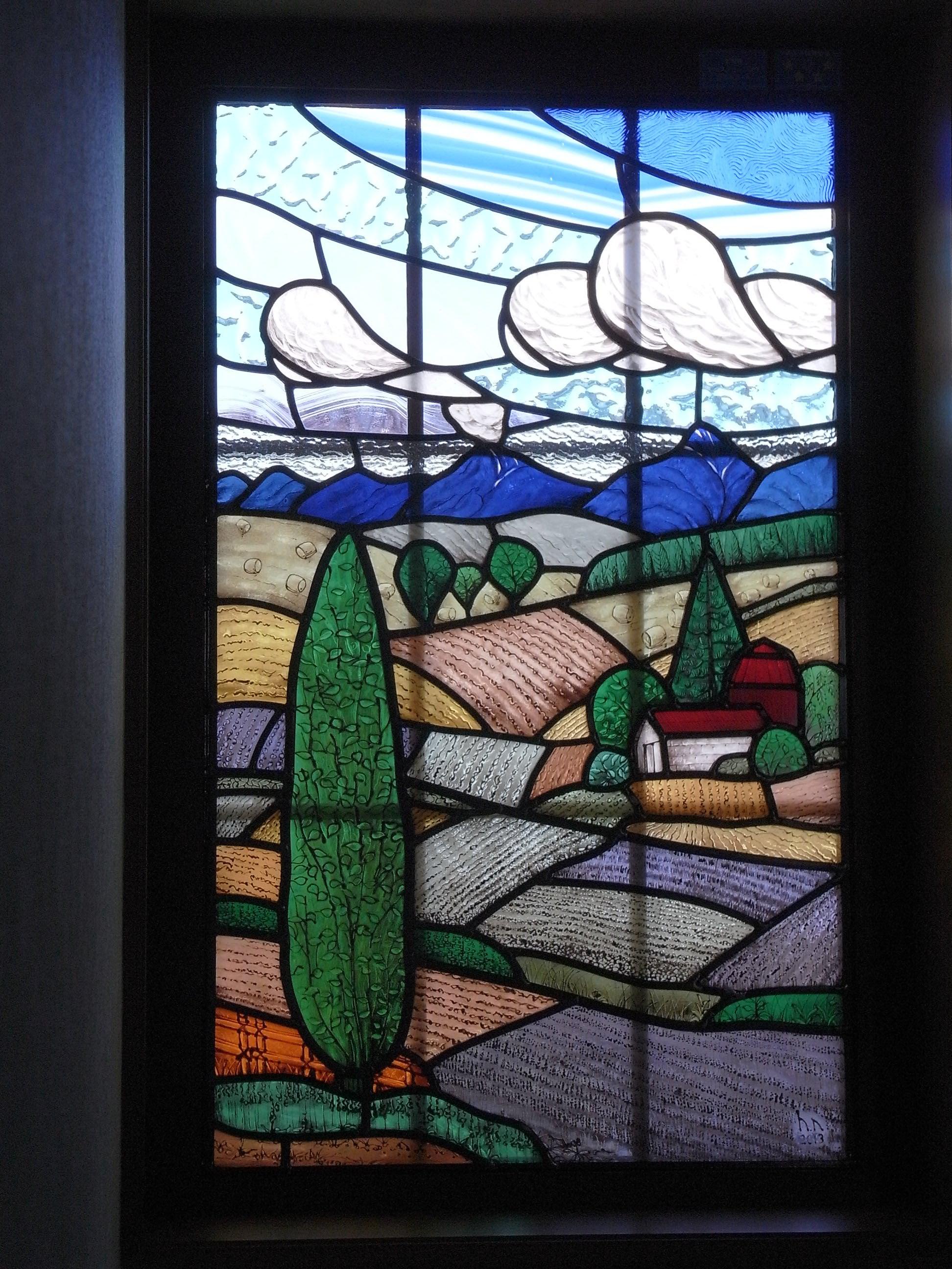富良野の風景 ステンドグラス