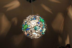 海亀のペンダントステンドグラス